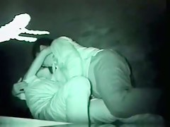 Teen asian couple have sex in the night filmed by a voyuer