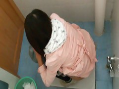 Hidden pee video of a beautiful asian teen brunette
