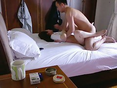 Great Asian couple voyeur sex tape