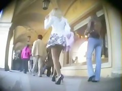 Large compilation of upskirt shots from streets and stores